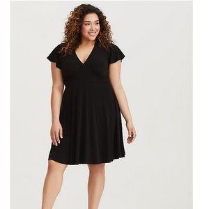 Torrid Black Jersey Knit Skater Dress
